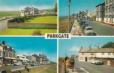 £3 • Buy Parkgate.  1973 Multi-view Postcard. Fair Condition. Written & Posted