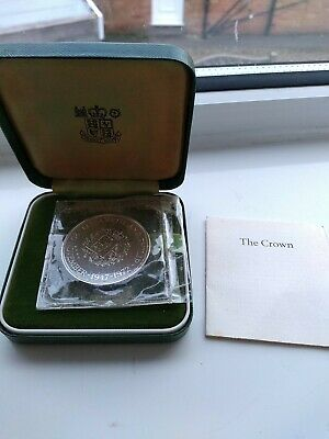 £15 • Buy 1972 Royal Mint Silver Wedding Silver Proof Crown In Green Case, Sealed With COA