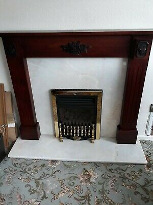 £99 • Buy Wood Fire Surround, Marble Hearth And Back Panel