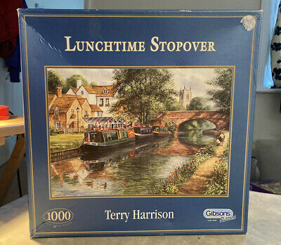 £6.99 • Buy Lunchtime Stopover Terry Harrison Jigsaw 1000 Piece Gibsons Jigsaw Puzzle