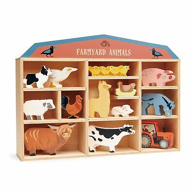 £60 • Buy Collection Of Gorgeous Farmyard Animals In A Wooden Shelf