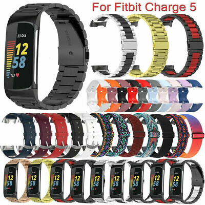 AU16.67 • Buy For Fitbit Charge 5 Stainless Steel/Leather/Nylon/Silicone Band Strap Bracelet