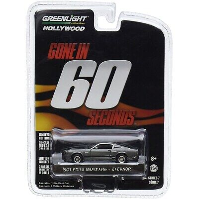 AU26.99 • Buy Greenlight Diecast 1:64 1967 Custom Ford Mustang Eleanor Gone In Sixty Seconds