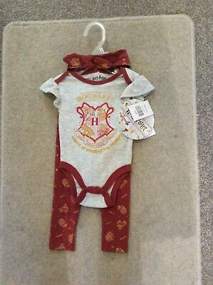 £10.99 • Buy Baby Girl Harry Potter Outfit Clothing Set Official  0-3 Months BNWT