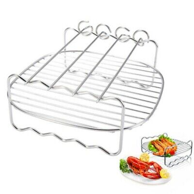 AU16.79 • Buy Grill+Pins For Philips Air Fryer 8-inch Double-layer Grill Stainless Steel Rack