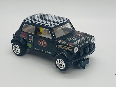£7.95 • Buy Scalextric Car C0206 T1 Mini Cooper Black With Chequered Roof - Motor Runs Well