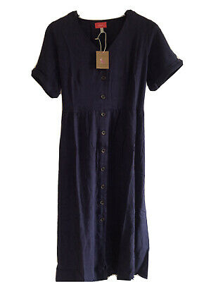 £25.99 • Buy Joules Womens Jessica Short Sleeve Dress - French Navy. Size 16. New With Tags