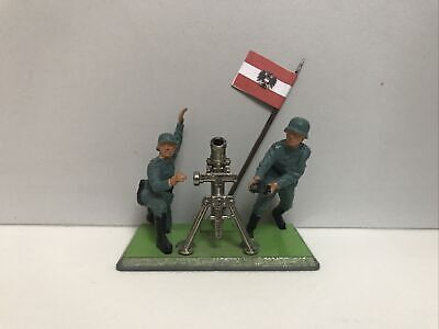 £12 • Buy BRITAINS DEETAIL GERMAN MORTAR WORLD WAR 2 Toy With Soldiers