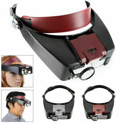 £7.45 • Buy 10X Magnifying Glass Headset LED Light Head Headband Magnifier Loupe With Box