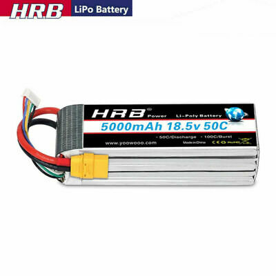 £59.99 • Buy HRB 18.5V 5000mAh 5S 50C LiPo Battery XT90 For RC Helicopter  Airplane Drone Car