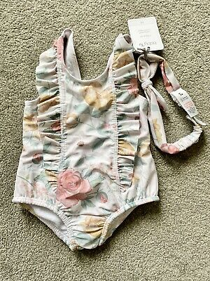 £3.50 • Buy BNWT Tu Baby Girl Swimming Costume & Marching Headband 0-3 Months Built In Nappy