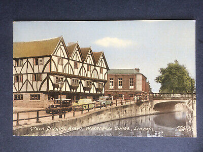 £3 • Buy Frith Postcard - Green Dragon Hotel, Waterside South, Lincoln...Lincolnshire