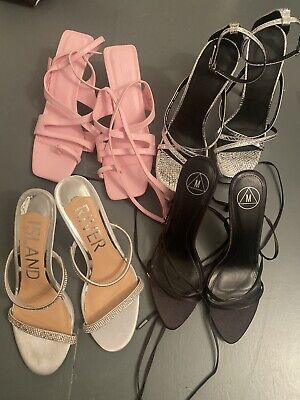 £16 • Buy Job Lot Asos Missguided River Island Strappy Sandals Shoes Size 7-8