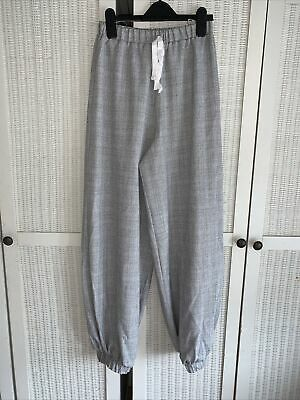 £5 • Buy Topshop Concession Love - Grey Jogger Style Trousers - Size Small