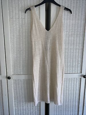 £5 • Buy Topshop Concession Baby Milk - Gold Glittery Body Con Dress - Size Small
