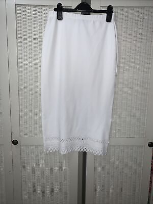 £10 • Buy Topshop Love Concession - White Pencil Skirt - Size Small