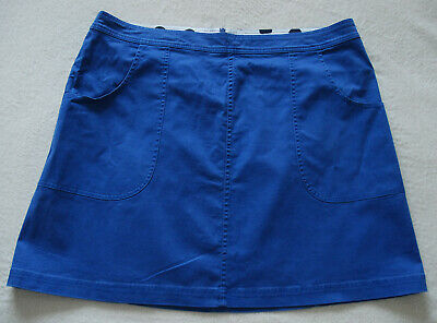 £4.99 • Buy BODEN Rachel Chino Skirt Mid Length Cotton Stretch In Blue UK 20R NEW RRP £50