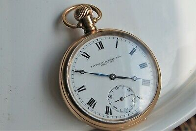 £175 • Buy Antique Gold Plate Waltham Pocket Watch.1927. Size 16. Running.