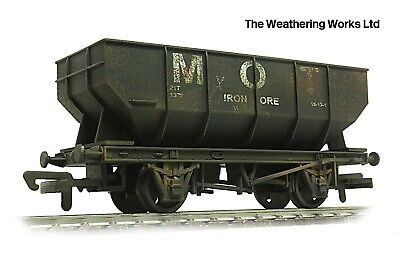 £19.99 • Buy Dapol 21t BR / PO Mineral / Coal Hopper Wagon +optional Load WEATHERED LOOK