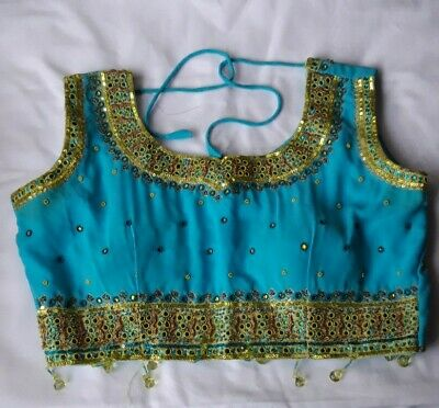 £9.50 • Buy Womens Ladies Bollywood Indian  Saree Blouse Readymade Designer Party Wear