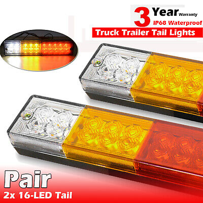 AU25.99 • Buy 2X Submersible Trailer Tail Lights 26 LED Stop Tail Lights Kit Boat Truck Lamp