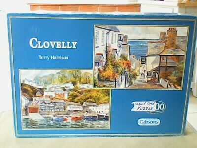 £5 • Buy CLOVELLY: THE WATERFRONT By Terry Harrison Jigsaw Puzzle (1000 Piece) Gibson