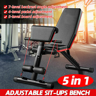 £69.99 • Buy Multi Adjustable Weight Bench Gym Workout Exercise Flat Incline Decline Sit Up