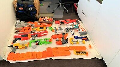 AU166 • Buy 12 Assorted Nerf Guns | Great Condition | All Working | 200+ Assorted Bullets |