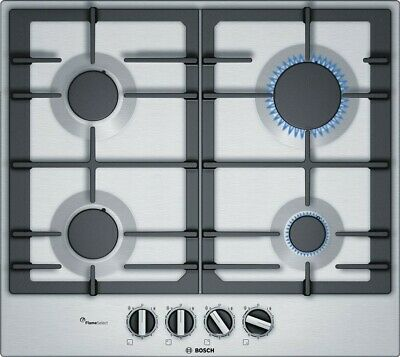 £289.90 • Buy Bosch PCP6A5B90 Gas Hob - Stainless Steel - Package Damaged