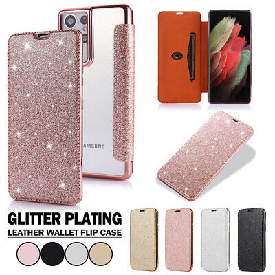 AU12.99 • Buy For Samsung S21 S20 Ultra S10 S9 S8 Plus Glitter Case Leather Wallet Flip Cover