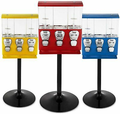 £174.99 • Buy TRIPLE CHOICE Commercial Grade Sweet Vending Machine 20p Coin Operated - RED