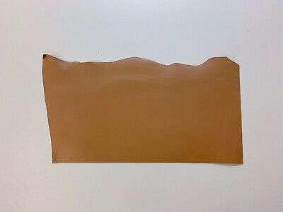 £37.99 • Buy 2mm Thick Dyed Veg Tan Leather Cowhide Craft - Warm Tan Brown - 2.7sqft+