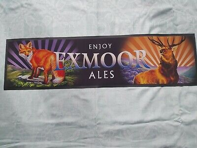 £12.99 • Buy New Exmoor Ales Brewery Fox & Stag Rubber Backed Bar Towel Shot Runner Pub