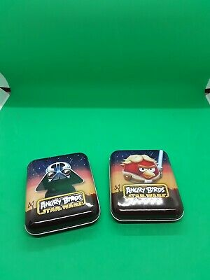 £3.50 • Buy Set Of 2 Angry Birds Star Wars Tins With Full Decks Playing Cards