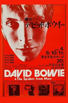 $12 • Buy David Bowie & * Spiders From Mars * Japanese Concert Poster 1973   12x18