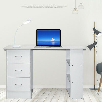 AU100.99 • Buy Office Computer Desk Student Study Table Workstation Drawers 120cm White