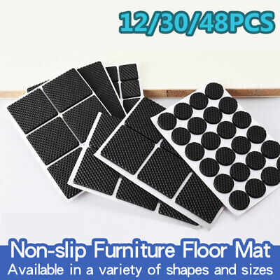 £2.98 • Buy Self Adhesive Non Slip Furniture Pads Grippers Rubber Feet Chair Table Leg Pad
