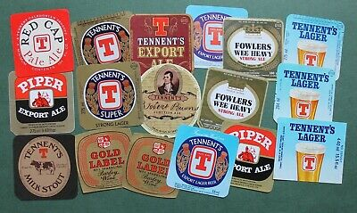 £0.99 • Buy Collection Of Vintage Tennent's Brewery Beer Bottle Labels - Glasgow, Scotland.