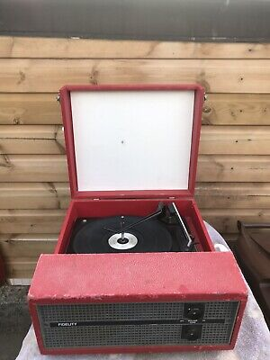 £12.99 • Buy Genuine Vintage Fidelity Record Player**used*spares/repairs Only*collectors Set*