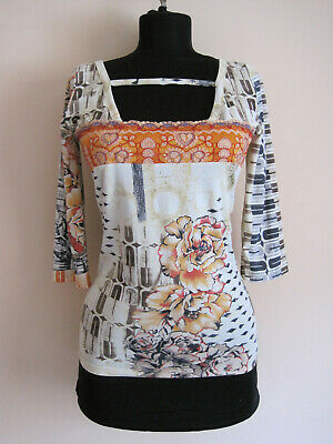 AU65.24 • Buy Womens SAVE THE QUEEN  Nylon Top Blouse Multicolor Floral Printed Size M