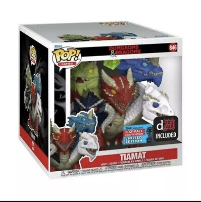 """AU70 • Buy Dungeons & Dragons - Tiamat Dice 6"""" NYCC 2021 Pop Figure (Ready To Ship)"""