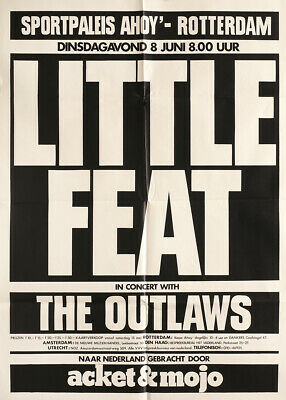 $29.99 • Buy Little Feat & The Outlaws 1976 Original Rotterdam The Netherlands Concert Poster
