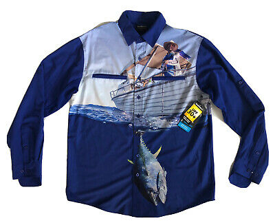 AU59.95 • Buy SHIMANO Men's Blue Vented Fishing Shirt Size S (NEW With Tags) FREE Postage