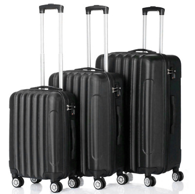 View Details Hardside 3 Piece Nested Spinner Suitcase Luggage Set With Tsa Lock • 65$