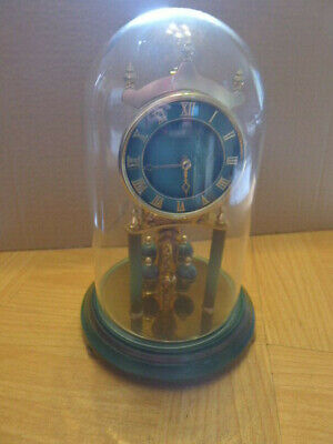 £65 • Buy KUNDO Green  10 Inch Tall Torsion Clock With Key.Glass Dome.400 Day..GWC.L@@K...