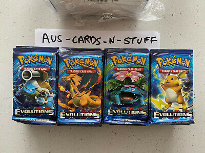AU149.99 • Buy Pokemon XY Evolutions Booster Pack X4 Artset Sealed From Booster Box