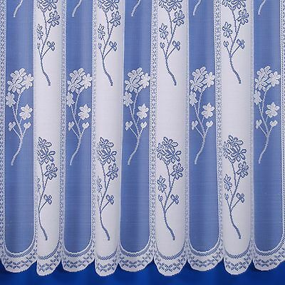 £2.95 • Buy Juniper Heavyweight Jacquard Net Curtain In White - Sold By The Metre