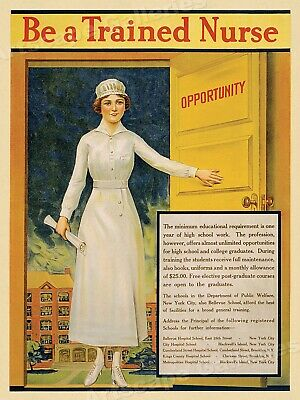 $11.95 • Buy Be A Trained Nurse! 1917 World War I Nursing Medical Recruiting Poster - 18x24
