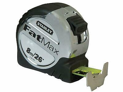 STANLEY FATMAX 8m (26ft) Metric/Imperial Tape Measure,32mm Armoured Blade,533891 • 25.95£