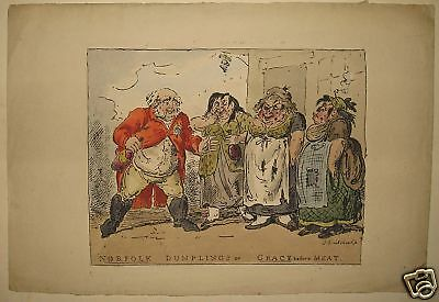 £322.56 • Buy Rare George Cruikshank 1814 Hand-Colored Lithograph